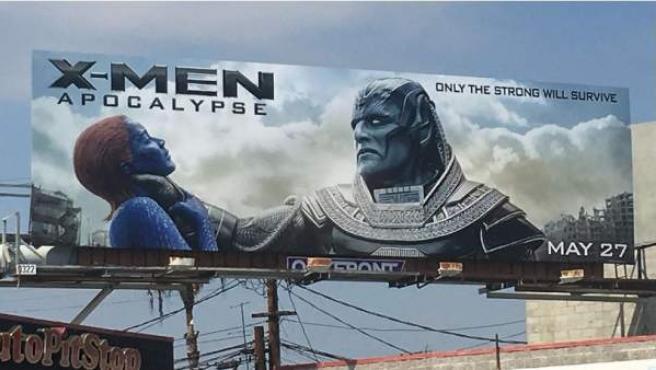 """Cartel polémico de 'X-Men: Apocalipsis""""."""