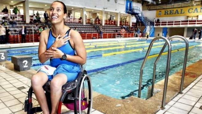 La nadadora Teresa Perales posa en una entrevista para 20minutos.