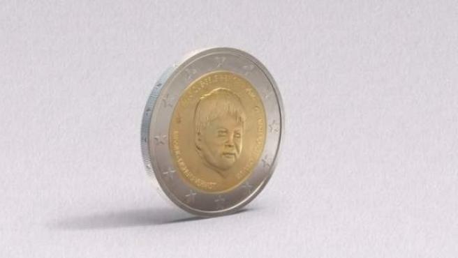 Moneda de dos euros acuñada por Bélgica para mantener vivo el recuerdo de los niños desaparecidos.