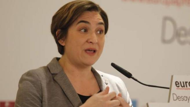 Ada Colau, alcaldesa de Barcelona, en un acto el pasado mes de abril.