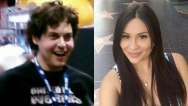 Combo de imágenes de Blake Leibel y su novia asesinada Iana Kasian.