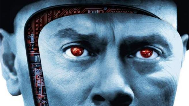 Detalle de la carátula en Blu-ray de 'Westworld (Almas de metal)'.
