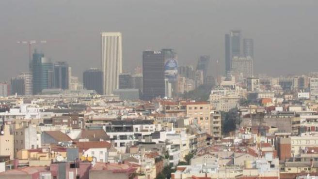 Vista de Madrid en la que se aprecia la contaminación del aire.