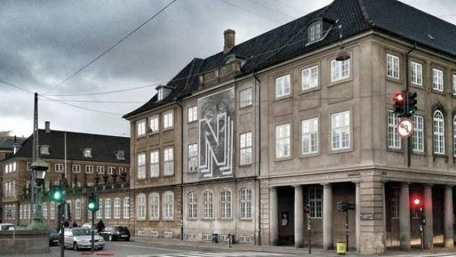 Vista de la fachada del Museo Nacional de Arte de Dinamarca.