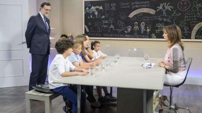 Mariano Rajoy, en el espacio '26J quiero gobernar', de Telecinco.