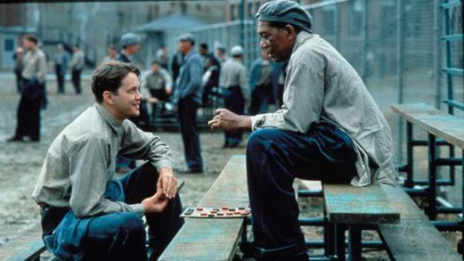 Still do filme 'Cadena Perpetua' (1994) com Morgan Freeman e Tim Robbins.