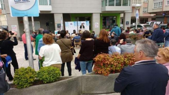 La líder dle BNG, Ana Pontón, este domingo en Fene