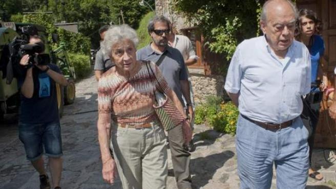 El expresidente catalán Jordi Pujol y su esposa, Marta Ferrusola.