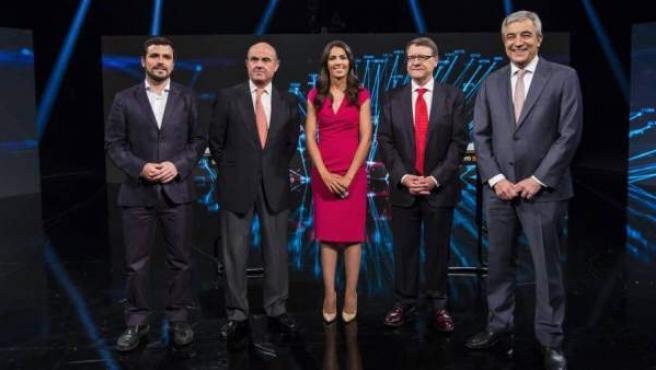 Alberto Garzón, Luis de Guindos, Jordi Sevilla y Luis Garicano se enfrentan en La Sexta moderados por Ana Pastor.