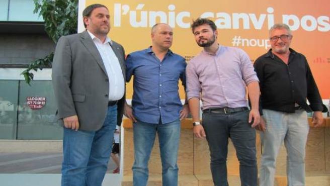 O.Junqueras, J.Salvador, G.Rufián, M.Aubà (ERC).