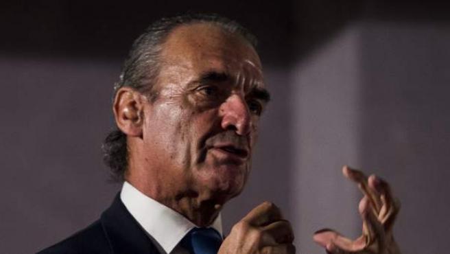 Mario Conde durante la premier del documental sobre su vida en Madrid.