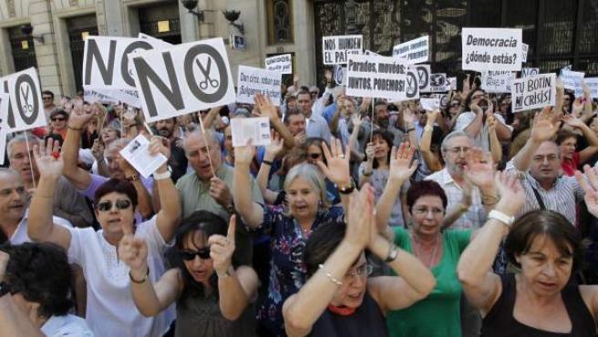 Manifestación de funcionarios en Madrid.