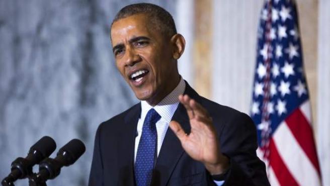 El presidente estadounidense pronuncia un discurso sobre la matanza de Orlando y en respuesta a Donald Trump.