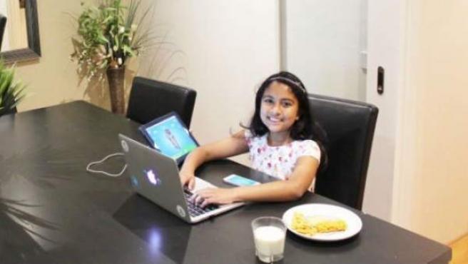 Anvitha Vijay, de 9 años, es la desarrolladora más joven de Apple.