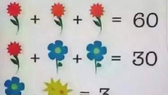 Jeroglífico matemático que vuelve loco a Facebook.