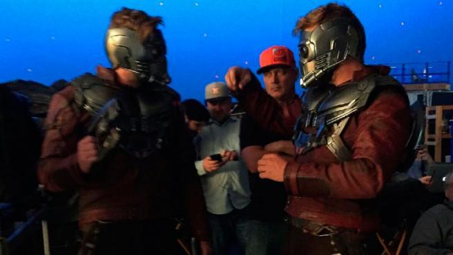 'Guardianes de la Galaxia Vol. 2': Chris Pratt y su doble anuncian el fin de rodaje