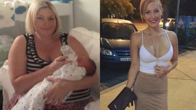 Karlye Thurlow, antes y después de dar un giro a su vida.