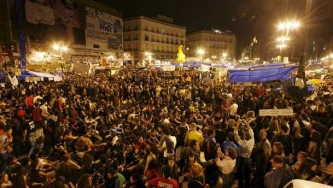 Una imagen de archivo de las protestas del 15-M en el año 2011.
