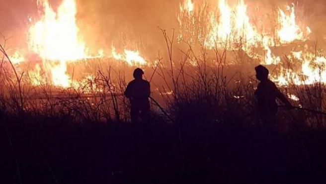 El fuego en Riba Roja