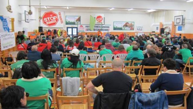 Asamblea Estatal de la Plataforma de Afectados por la Hipoteca en Navarra.