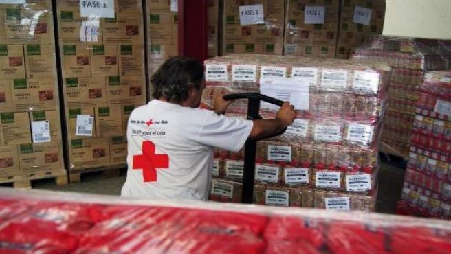 Almacén de alimentos de Cruz Roja