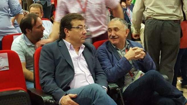Guillermo Fernández Vara y Pepe Álvarez