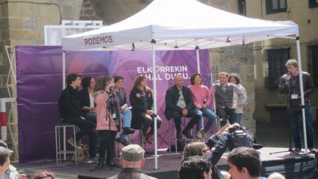 Monedero y candidatos de Unidos Podemos