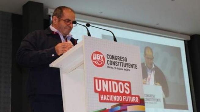 Miguel Talavera, secretario general de UGT FICA Extremadura