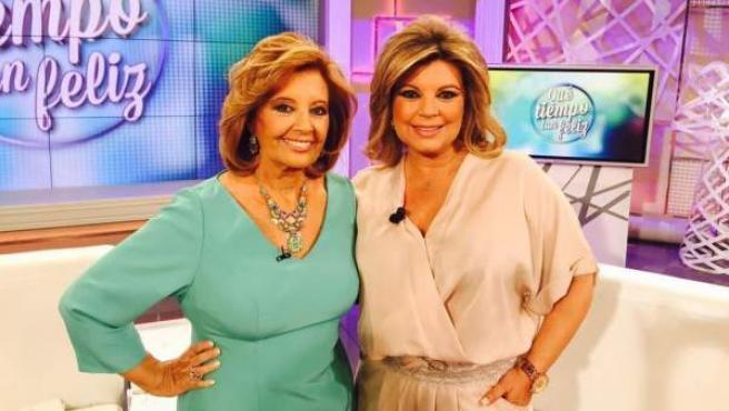 María Teresa Campos y Terelu en el programa 'Qué tiempo tan feliz'.