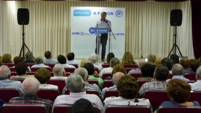 Acto de José Enrique Fernández de Moya en Los Villares (Jaén)