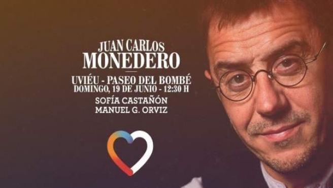 Juan Carlos Monedero en un acto en Oviedo