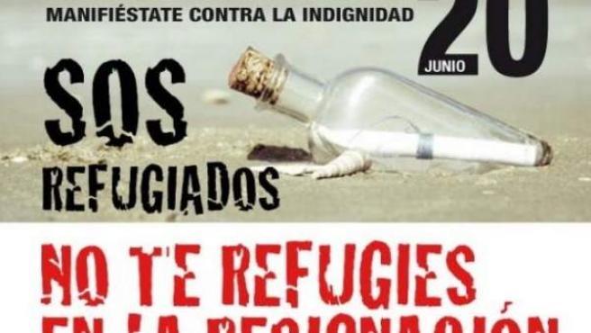 Cartel manifiestación sos refugiados
