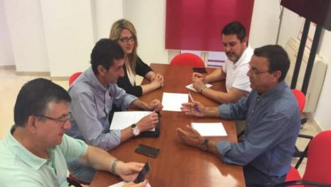 Reunión de líderes de PSOE y UGT de Huelva