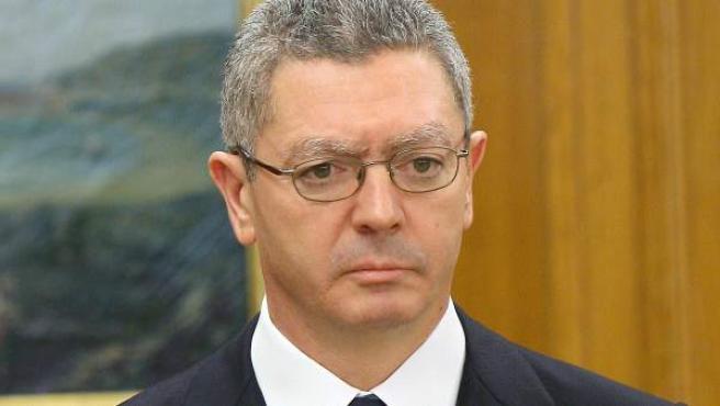 El exministro de Justicia, Alberto Ruiz Gallardón, en una imagen de archivo.