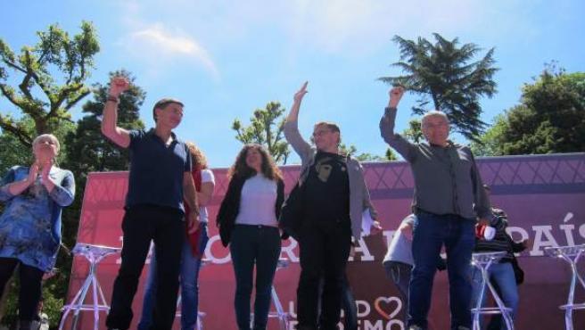 Enrique López, Sofía Castañón, Juan Carlos Monedero y Manuel G Orviz en Oviedo