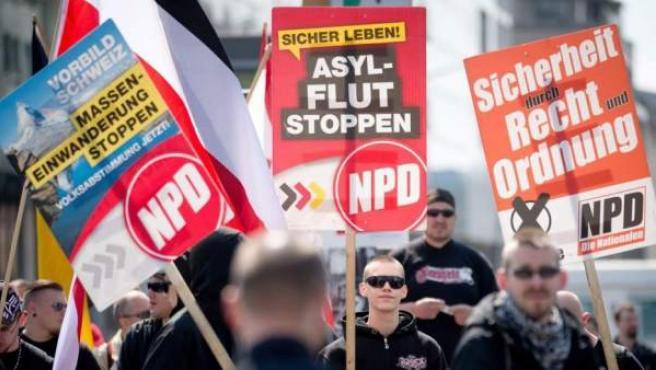 Una manifestación neonazi en Berlín en una imagen de archivo.