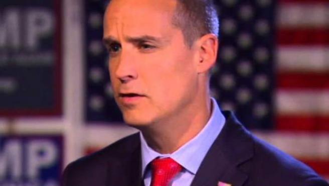 El asesor electoral y jefe de campaña de Donald Trump, Corey Lewandowski.