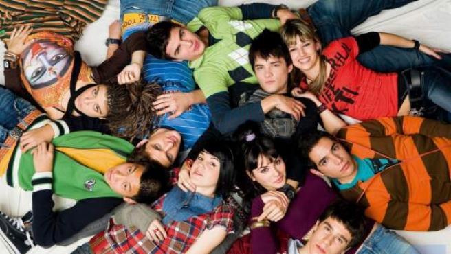 Los actores de 'Física o Química', en una imagen de archivo.