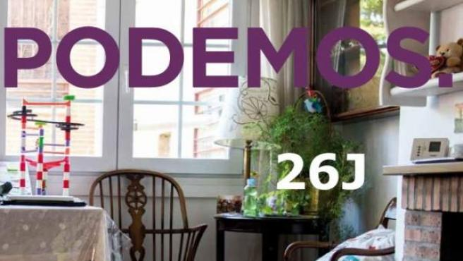 Portada del programa electoral de Podemos de cara a las elecciones generales del 26J.