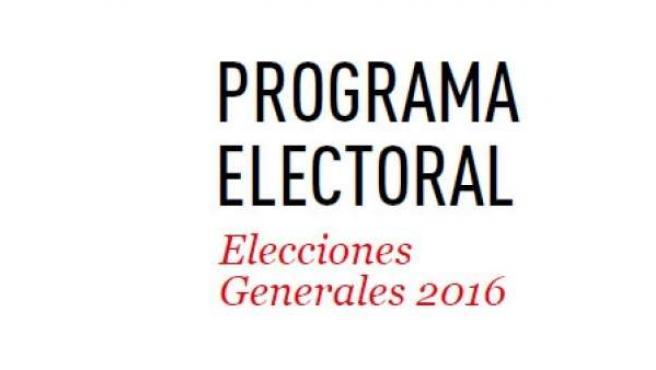 Programa electoral del PSOE.