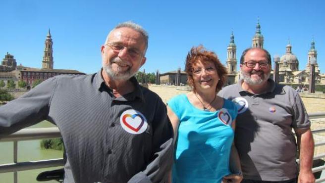 Arrojo, Magallón y Clarimón (Unidos Podemos), hoy en el Balcón de San Lázaro