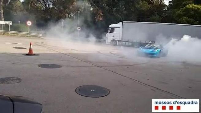 Denunciados dos hombres británicos en Girona por conducción temeraria