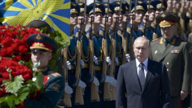 Putin, durante los actos de recuerdo por el 75 aniversario de la invasión de la Unión Soviética por parte de la Alemania nazi.