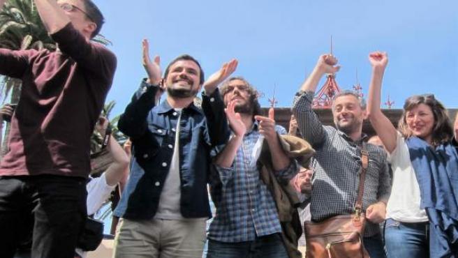 Mitin de En Marea en A Coruña con Xulio Ferreiro, Errejón, Garzón y candidatos