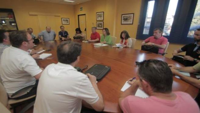 Reunión del comité de empresa de Aucorsa con la alcaldesa