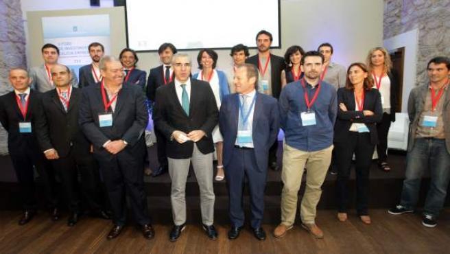 El conselleiro de Economía, Francisco Conde, en el foro Galicia Emprende