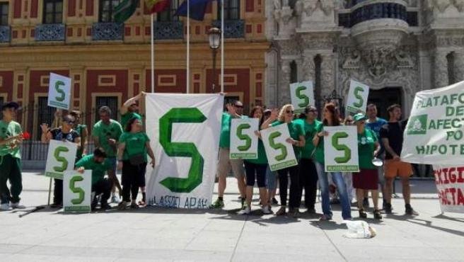 Protesta ante San Telmo.