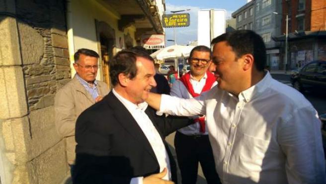 Abel Caballero y Valentín González, en As Pontes