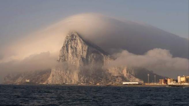 El Peñón de Gibraltar, visto desde la Línea de la Concepción.