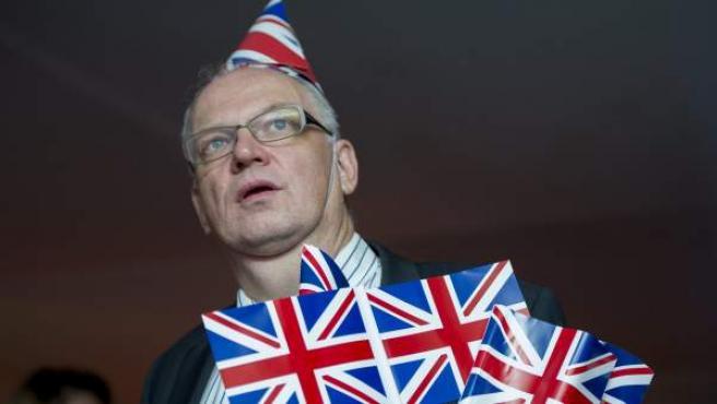 Un hombre a favor de la salida del Reino Unido de la Unión Europea.